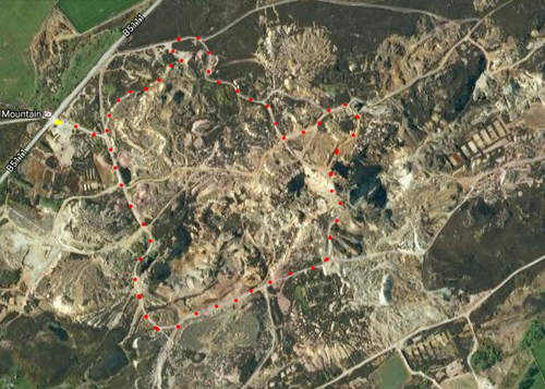 Parys mountain map