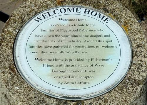 Welcome home sculpure plaque Fleetwood