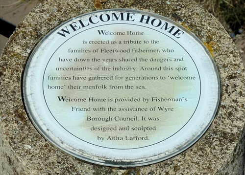 Welcome home sculpure plaque Fleetwood